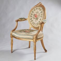 Important Suite of Salon Furniture by Francois Herve, 6 Armchairs and 1 Settee | From a unique collection of antique and modern armchairs at https://www.1stdibs.com/furniture/seating/armchairs/