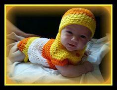 Crochet Candy Corn Diaper Set by LEACreations on Etsy, $45.00