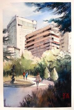 Torre San Martín [Ourense]  chinese ink + watercolor | 56 x 38 cm  •