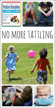 Experience- and research-based ways to deal with tattling in early childhood education.