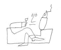 By Saul Steinberg Saul Steinberg, Editorial Illustration, Graphic Illustration, Line Drawing, Painting & Drawing, Bühnen Design, Arte Grunge, Art Postal, In Vino Veritas