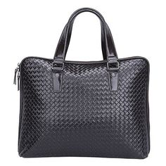 4you2wear Trendy zwarte leren werk tas