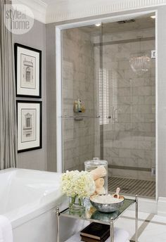 Like the roman architecture theme for master bathroom