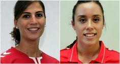 ALMUÑÉCAR. Las jugadoras sexitanas Paula García, pivote del equipo Rincón Fertilidad Málaga, e Irene Espínola, que milita en equipo Prosetecnisa Zuazo, ha sido