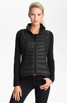 Bernardo Mixed Media Packable Down Vest available at #Nordstrom