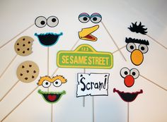 Sesame Street Inspired Photo Booth Props by PAPERandPANCAKES, $80.00
