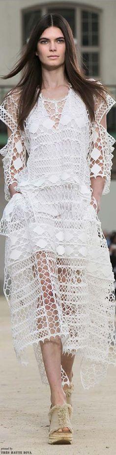 Paris FW Chloe Spring 2014 RTW  WHITE LACE CROCHET - bohemian boho chic fashion style -Toodles