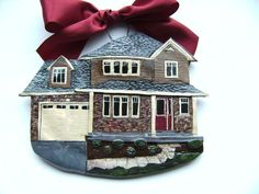 Ornaments that are replicas of your house etsy $46