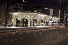 Tram and Bus station in Munich Perret Maluche Stuke Munich