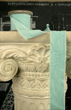 "OASIS Raw Muslin Ribbon Aqua 2"" x 9.8'"
