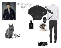 """""""Albus Tobias Snape"""" by lexirohrich on Polyvore featuring Diesel, Scotch & Soda, Balmain, Calvin Klein, CO, Giorgio Armani, men's fashion and menswear"""
