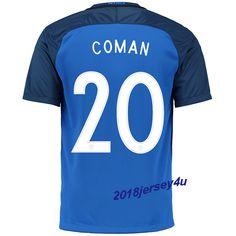 Kingsley Coman 20 UEFA Euro 2016 France Home Jersey