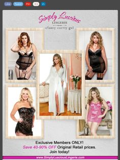 Share this with a friend! 2 DAYS ONLY! Memorial Day Weekend Special….FREE club membership + $1.99 sexy lingerie @ Simply Luscious Lingerie.com
