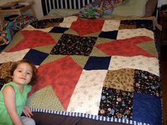 Squawk!: Another easy quilt, the big block