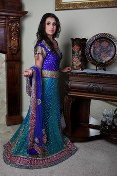 ON SALE> Turquoise Royal Blue Lehenga. Royal Blue Lehenga, Green Lehenga, Lehenga Choli, Half Saree Designs, Lehenga Designs, India And Pakistan, Pakistan Fashion, Indian Bridal Lehenga, Lehenga Collection