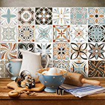 36 carrelage adhésif 15x15 cm - PS00009 - Décorations d'époque - Adhésive décorative à carreaux pour salle de bains et cuisine Stickers carrelage - collage des tuiles adhésives