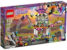Buy LEGO Friends Heartlake The Big Race Day Kart Toy - 41352 at Argos. Thousands of products for same day delivery or fast store collection. All Lego, Lego Dc, Lego Duplo, Lego Ninjago, Lego Batman, Karting, Burger Laden, Lego Friends Sets, Big Friends