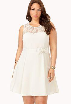 Festive Fit & Flare Dress | FOREVER21 PLUS - 2000073970 ... rehearsal dinner or bridal shower dress?