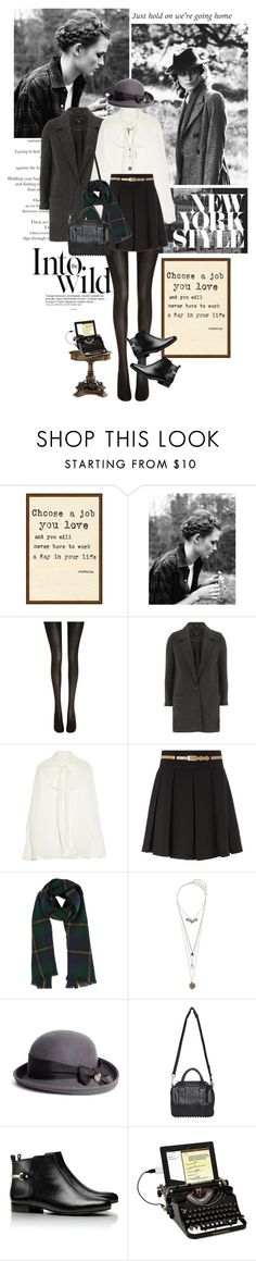 """Keira Knightley"" by bittersweet89 ❤ liked on Polyvore featuring Anja, Hershesons, Wolford, Dorothy Perkins, Chloé, Drakes London, Topshop, Brooks Brothers, Alexander Wang and Tory Burch"