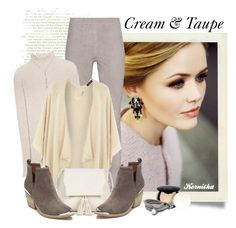 """""""nr 932 / Cream & Taupe"""" by kornitka ❤ liked on Polyvore featuring Arma, The Row, Dorothy Perkins, Sole Society, Jeffrey Campbell, NYX, mizuki and SAACHI Style"""
