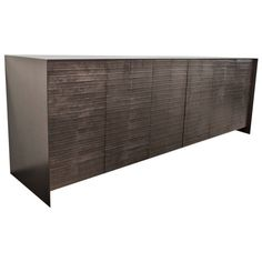 Steel and Graphite Dining Room Credenza | From a unique collection of antique and modern credenzas at https://www.1stdibs.com/furniture/storage-case-pieces/credenzas/