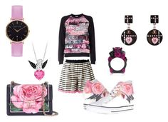 """black and pink"" by ms-queenemojigirl122 ❤ liked on Polyvore featuring Tamaki Fujie, Giamba, Converse, Dolce&Gabbana, Chanel and Abbott Lyon"