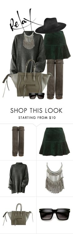 """""""Sem título #1012"""" by felixfernanda ❤ liked on Polyvore featuring Givenchy, Topshop Unique, GOLDBARR and Ryan Roche"""