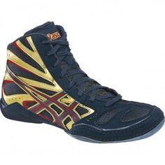 Asics Split Second 8 Wrestling Shoes - Black/Red/Silver