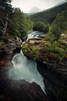 """Gudbrandsjuvet, Norway by Jonas Lang on Flickr. """"The Gudbrandsjuvet, a a 5 metre narrow and 20–25 metre high ravine of the Valldøla River. Our overnight accommodation was only 30 metres away - louder than a motorway ;) """""""
