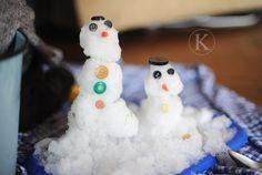 make mini snowmen INSIDE