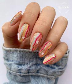 Polygel Nails, Oval Nails, Hair And Nails, Fabulous Nails, Perfect Nails, Gorgeous Nails, Gelish Nail Colours, Disney Inspired Nails, Disney Acrylic Nails