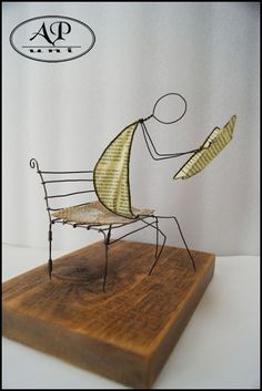 Wire, Sculpture, Sculpting, Statue, Sculptures