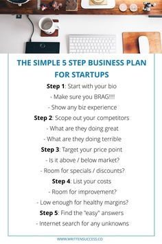 The Simple 5 Step Business Plan for Startups Learn the EASY way to knock out a business plan for new startup businesses! Business Plan Outline, Making A Business Plan, Writing A Business Plan, Creating A Business, Start Up Business, Starting A Business, Small Business Plan Template, Simple Business Plan, Business Money