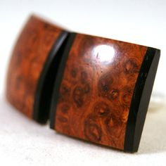 Wooden Cufflinks Highly Figured Asian Amboyna Burl with by dfuss, $40.00