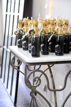 champagne bottle favors