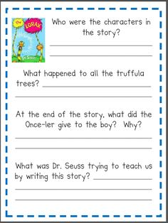 Printables Lorax Worksheets lorax graphic organizers and graphics on pinterest a good book can change everything the lorax