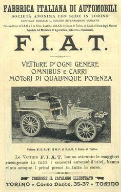 Manifesti pubblicitari dei primi del '900 - Automobili FIAT