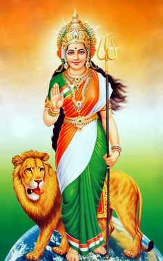 Bharat Mata : The Mother India Independence Day Drawing, Happy Independence Day India, Independence Day Wallpaper, Independence Day Images, Indian Flag Wallpaper, Indian Army Wallpapers, Durga Images, Lord Krishna Images, Bhagat Singh Wallpapers