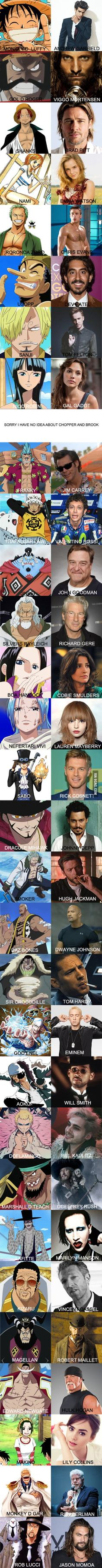 This is my One Piece live action dream cast, what do you think
