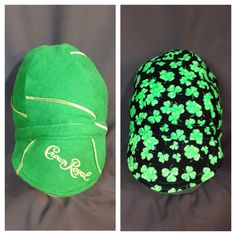 "WELDER CAP ""Apple"" Green Crown Royal Liquor Bags along with Clovers by ItchinToBeStitchen on Etsy"