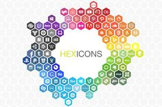 Hexicons - The expanding icon set by wattscreative on @creativemarket