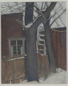 Winter Painting, Tempera, Watercolor Techniques, Woman Painting, Gouache, Artsy Fartsy, Illustration, Sketches, Landscape