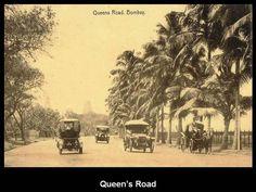 Queen's Road - Mumbai Tourism India, India Travel, Rare Photos, Old Photos, Colonial India, Caribbean Homes, Mumbai City, India Facts, Mumbai Maharashtra