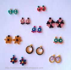 Quilling Earrings Stud | Quilling earrings
