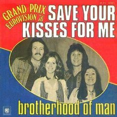 "Brotherhood Of Man ""Save Your Kisses For Me"" Eurovision Song Contest Winner for the UK - check out doppelganger on the left. Miss The Old Days, The Good Old Days, 1970s Childhood, My Childhood Memories, My Youth, Teenage Years, My Memory, Album Covers, Growing Up"