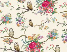 vintage owl family trees, background, wallpapers, inspiring pictures, print, owls, flower, wallpaper patterns, owl patterns