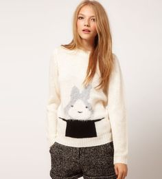 Cute Rabbit Magician Hat Loose Sweater