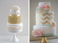 маленький свадебный торт, свадебный торт с узором шеврон, 42 свадебных торта для роскошной гламурной свадьбы
