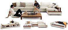 King Furniture - Jasper modular lounge system in leather or fabric. Dream couch!!!
