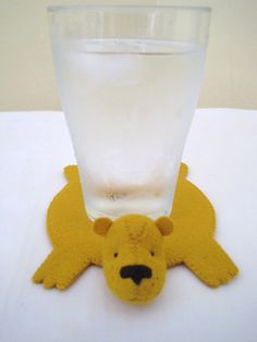 Cute little bear coasters